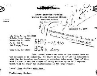 DOE Documents Reveal Radiation Human Experiments