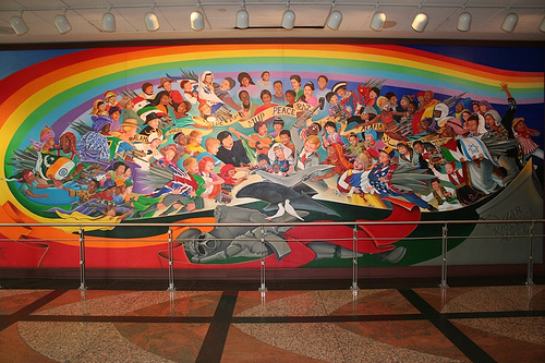Denver airport conspiracy theories top secret writers for Denver mural conspiracy