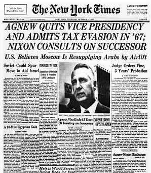 spiro agnew tax evasion