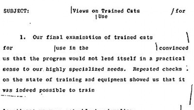 The Humorous End of Project Acoustic Kitty in 1967