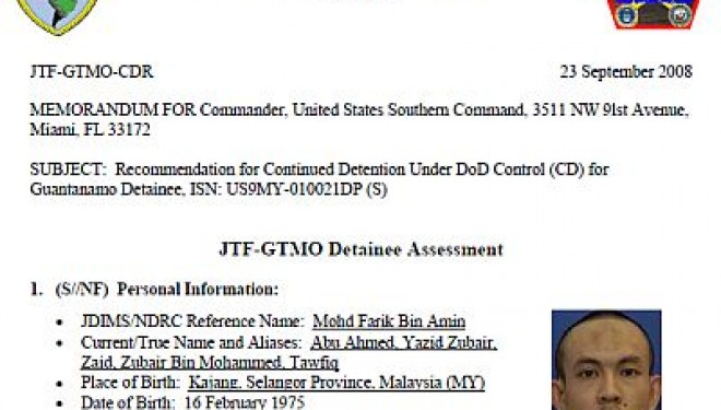 Selective Release of Guantanamo Documents Reveals WikiLeaks Bias