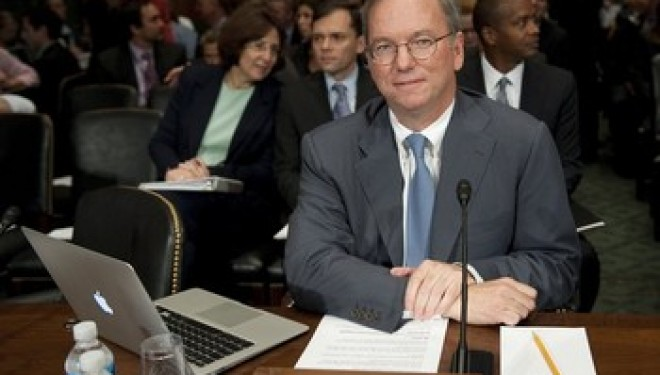 Eric Schmidt Testifies in Washington on the Google Threat to Competition