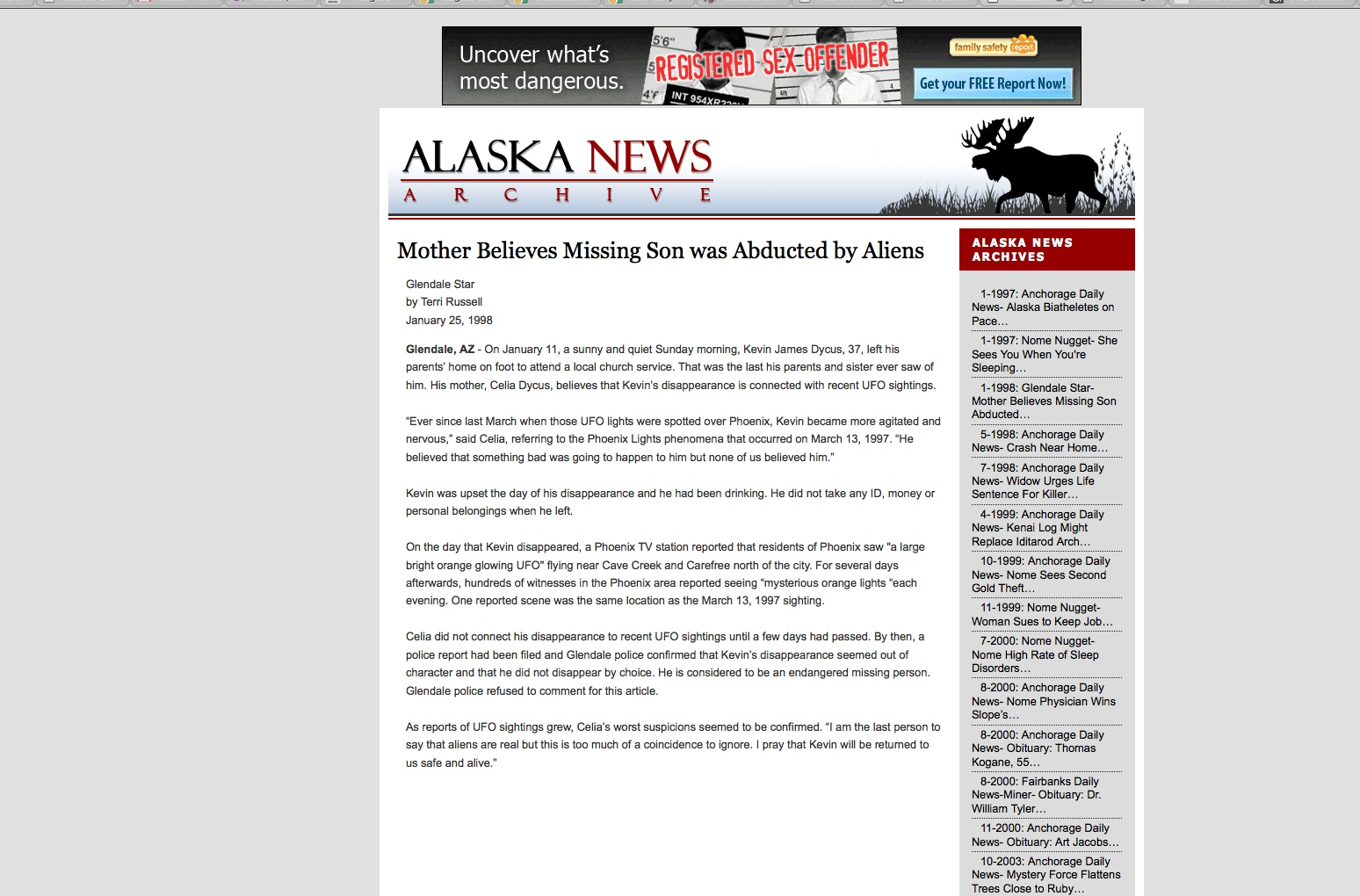 nome alaska missing people