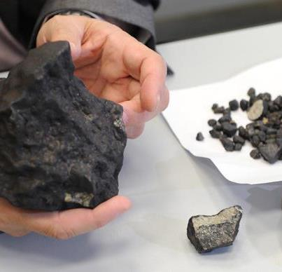 meteorite chunk from ural mountains