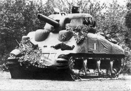 wwii dummy tank