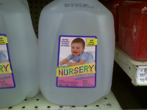 flouridated water for baby