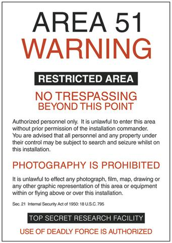 area 51 restricted notice