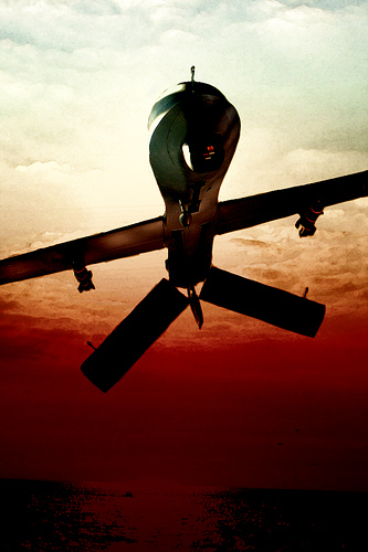 drone plane in sky