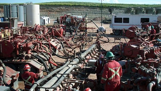 fracking job site