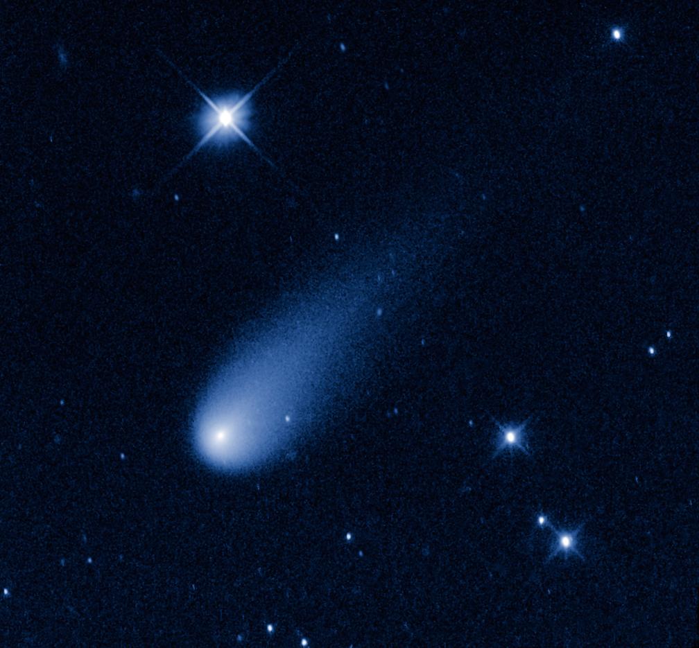 comet ison viewed through telescope