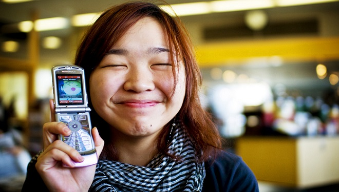 chinese girl with phone