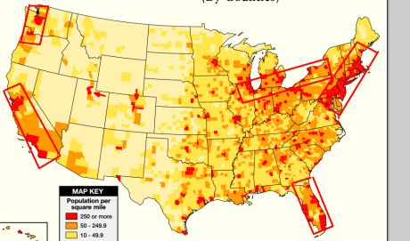 East Cost Ignored Again - Map of us before and after the riots