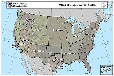 border patrol sectors map