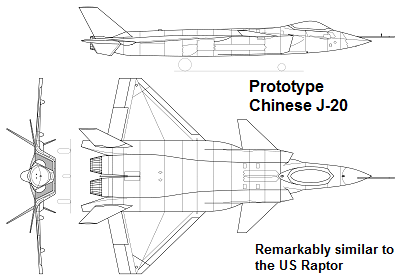 chinese j-20 prototype
