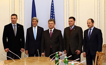 kerry with ukraine parliament
