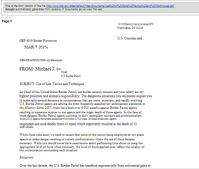 screenshot of memo