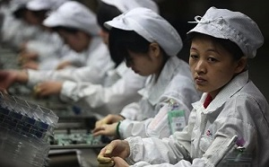 young chinese working