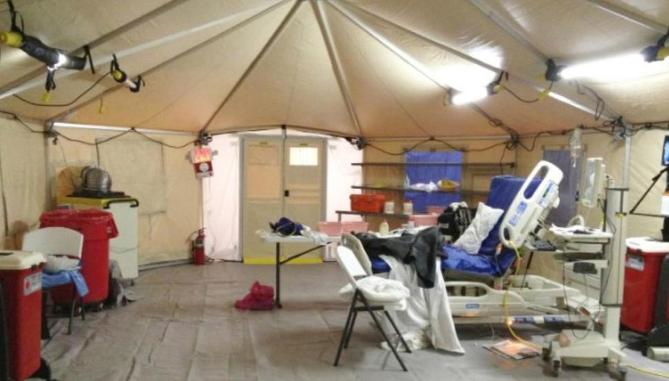 kaci hickox quarantine tent