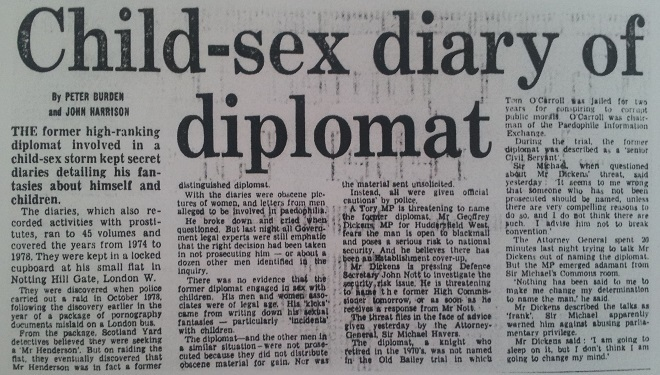Massive Government Cover up Protected MI6 Child Abusers