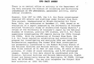 ufo fact sheet
