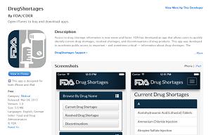 drug shortages app