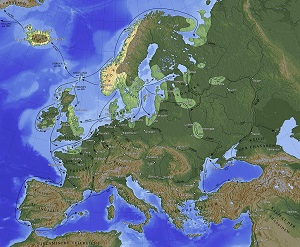 map of viking travels