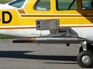 cessna with cloud seeding equipment
