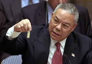 powell holding anthrax vial