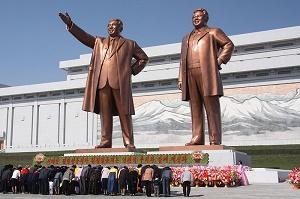 statues of north korean leaders