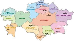 kazakhstan provinces