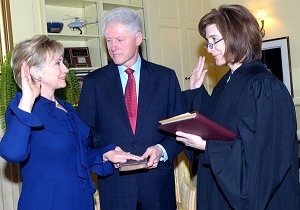 clinton swearing in sos