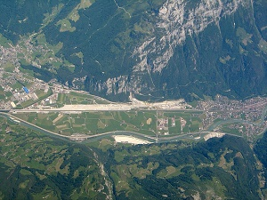 aerial view gotthard base tunnel