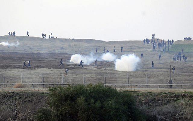 israeli drone tear gas