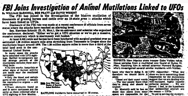 fbi cattle mutilation investigation